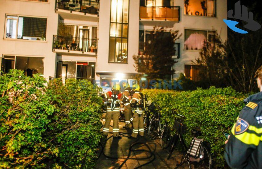 Brand portiekflat Willem Barentszstraat Dordrecht
