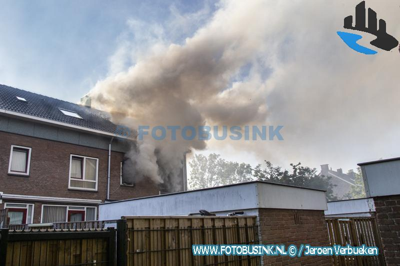 Woning in brand aan de Dorus Rijkersstraat in Dordrecht