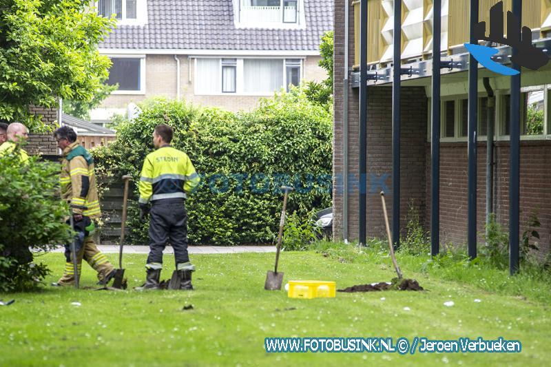 Tientallen woningen ontruimd vanwege gaslek aan de Merelstraat in Sliedrecht