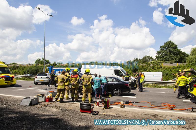 Wederom flink ongeval op de N3 bij Papendrecht