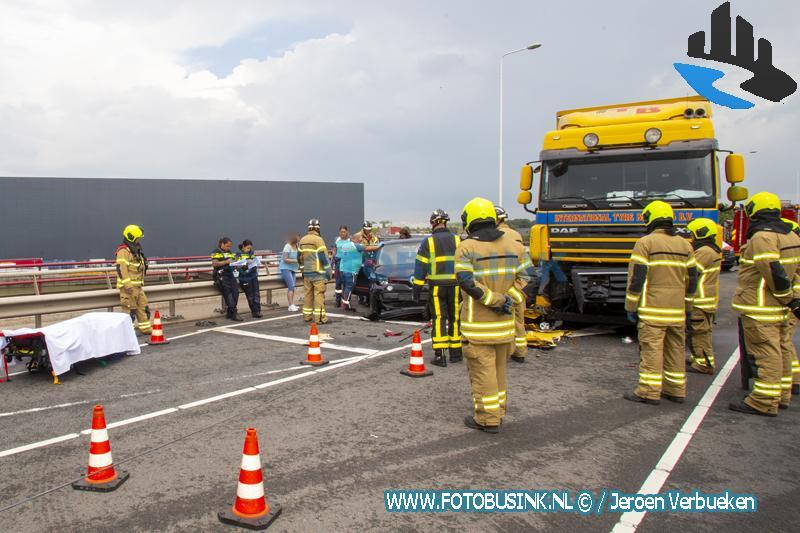 Ernstig ongeval op de brug over de Noord Alblasserdam