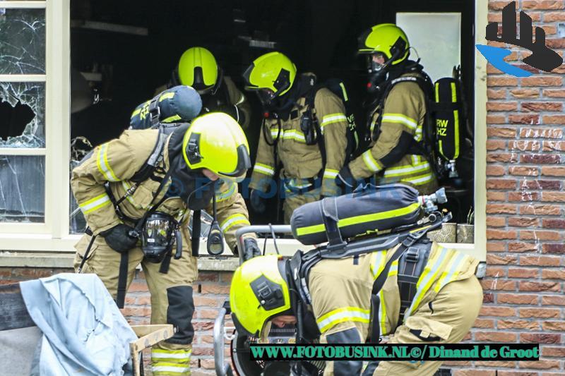 Bankstel in brand in woning aan de Wilhelminastraat in Sliedrecht