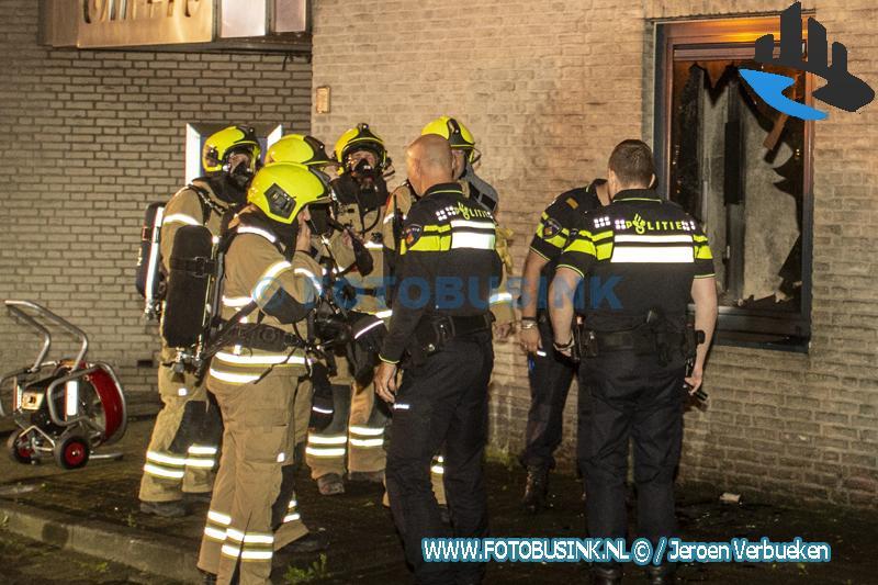 Middelbrand bij transportbedrijf aan de Edisonweg in Alblasserdam